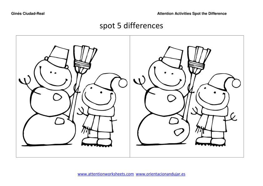 photograph about Find the Differences Printable titled Destination The Change Printables For Xmas - Xmas