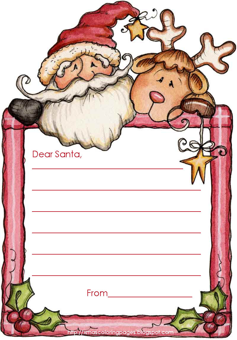 template for santa letter to print