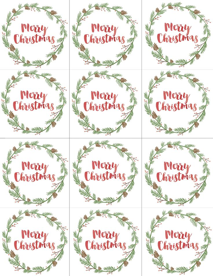 to from tags christmas printable