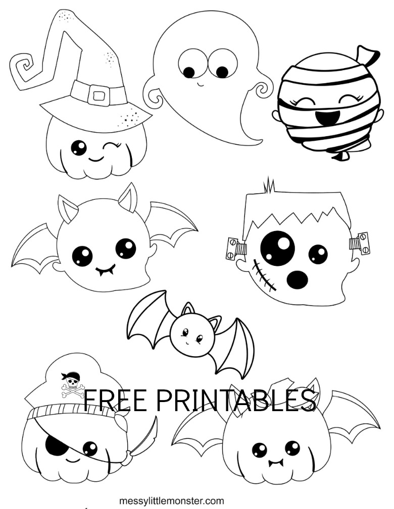free halloween coloring sheets for kids