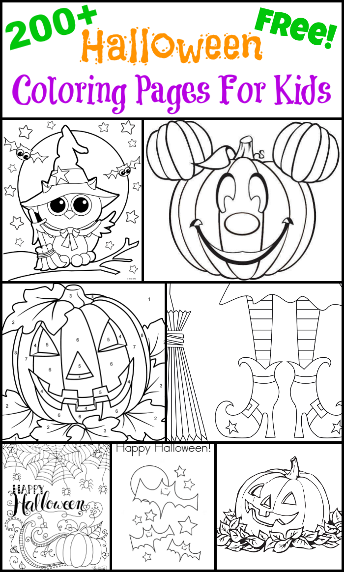 halloween color sheets for kids