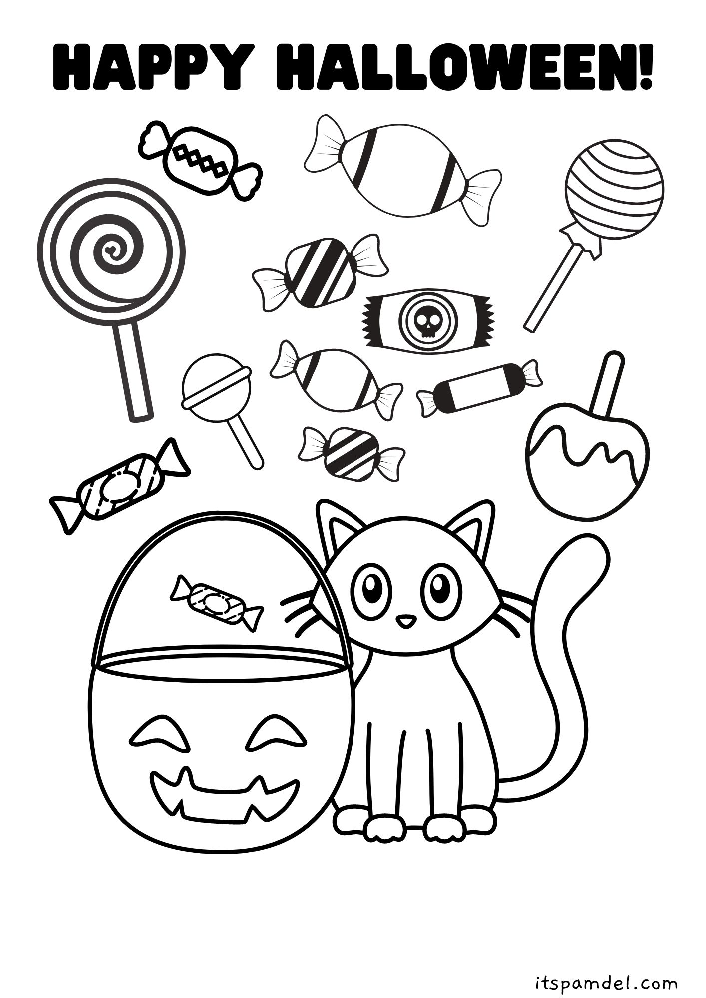 halloween coloring printable pages
