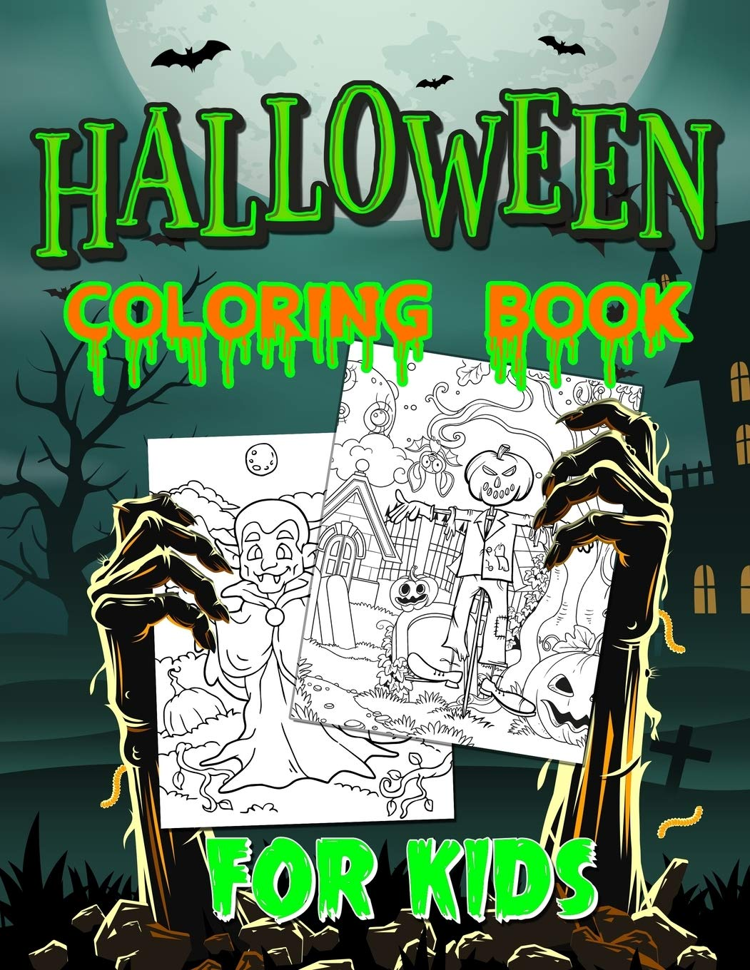 halloween colouring pages for kids to print