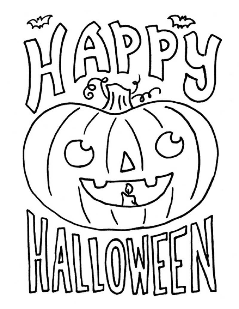 halloween colouring pictures to print