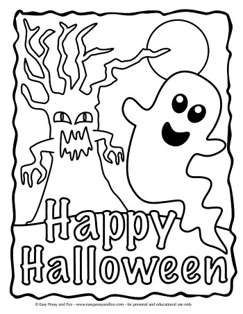 halloween pictures to color