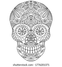 halloween skull coloring pages