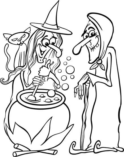 halloween witch coloring pictures