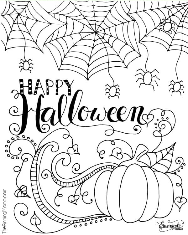 printable coloring pages for halloween