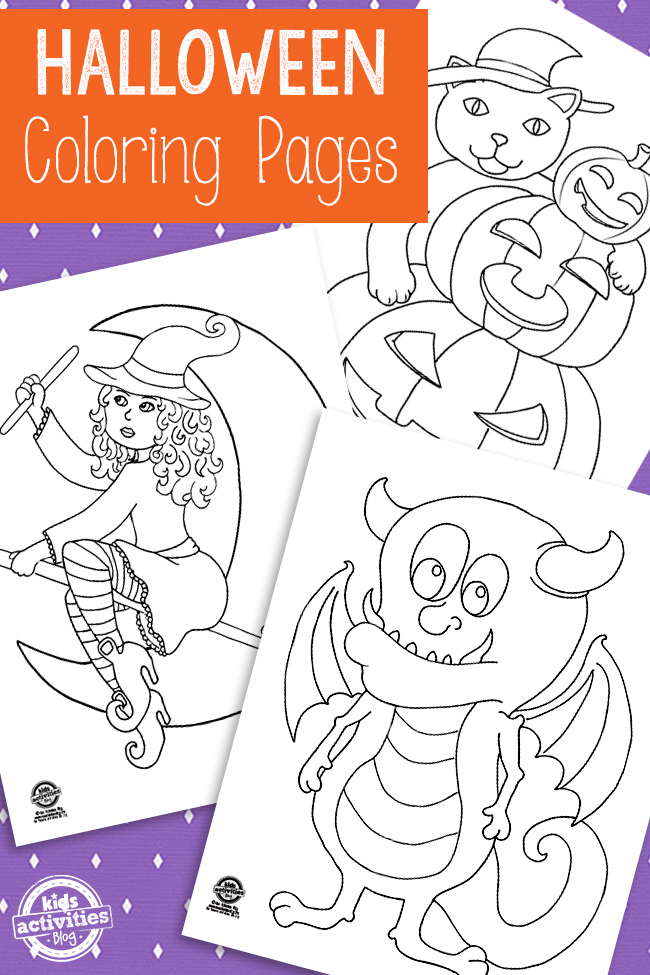 printable toddler halloween coloring pages