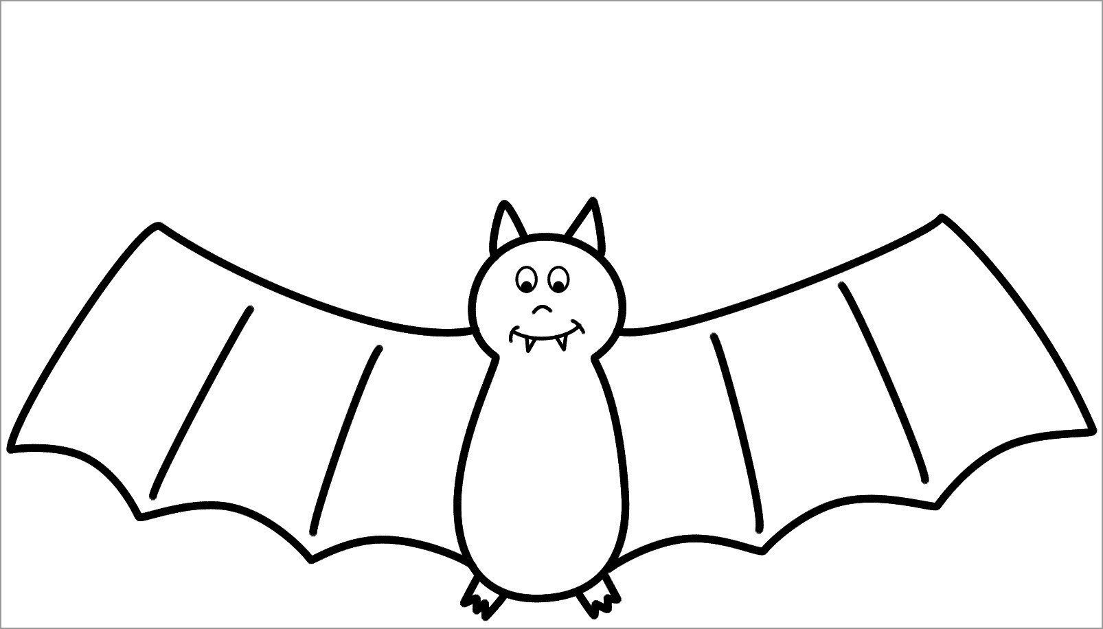 bat for coloring