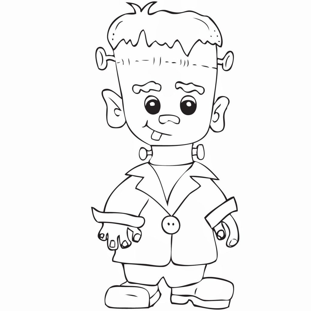 frankenstein coloring pages to print