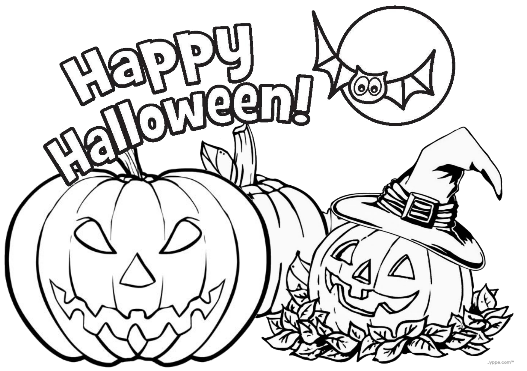 halloween printables coloring pages