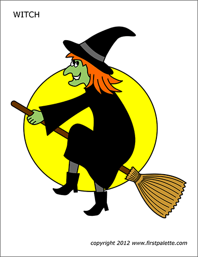 halloween witch pictures to color