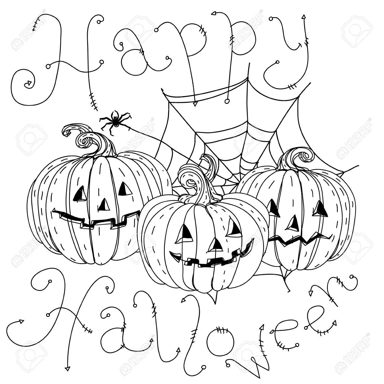 happy halloween coloring banners