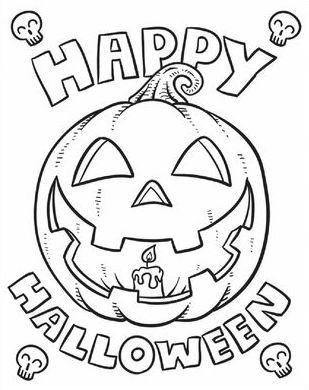 happy halloween coloring sheets