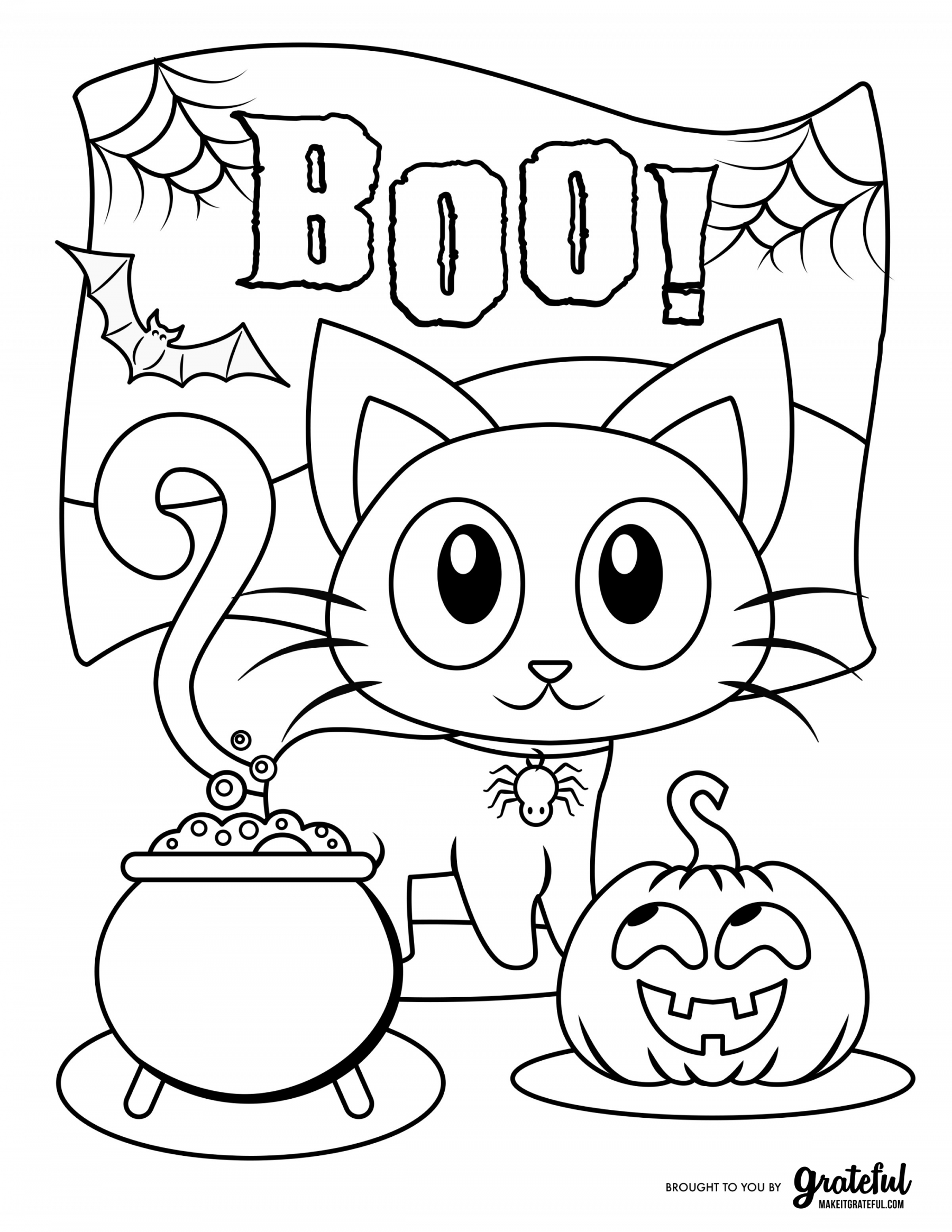 kids halloween coloring pages