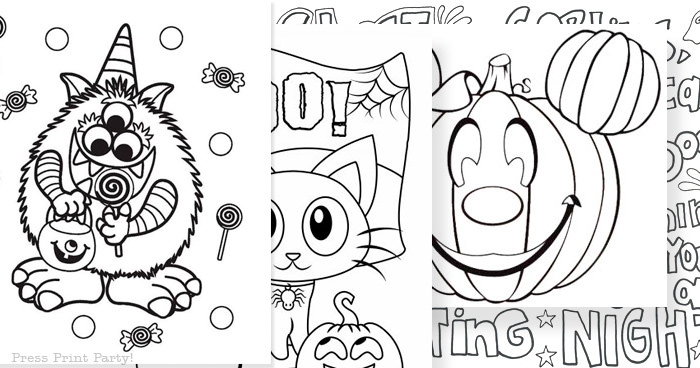 kids halloween coloring pictures