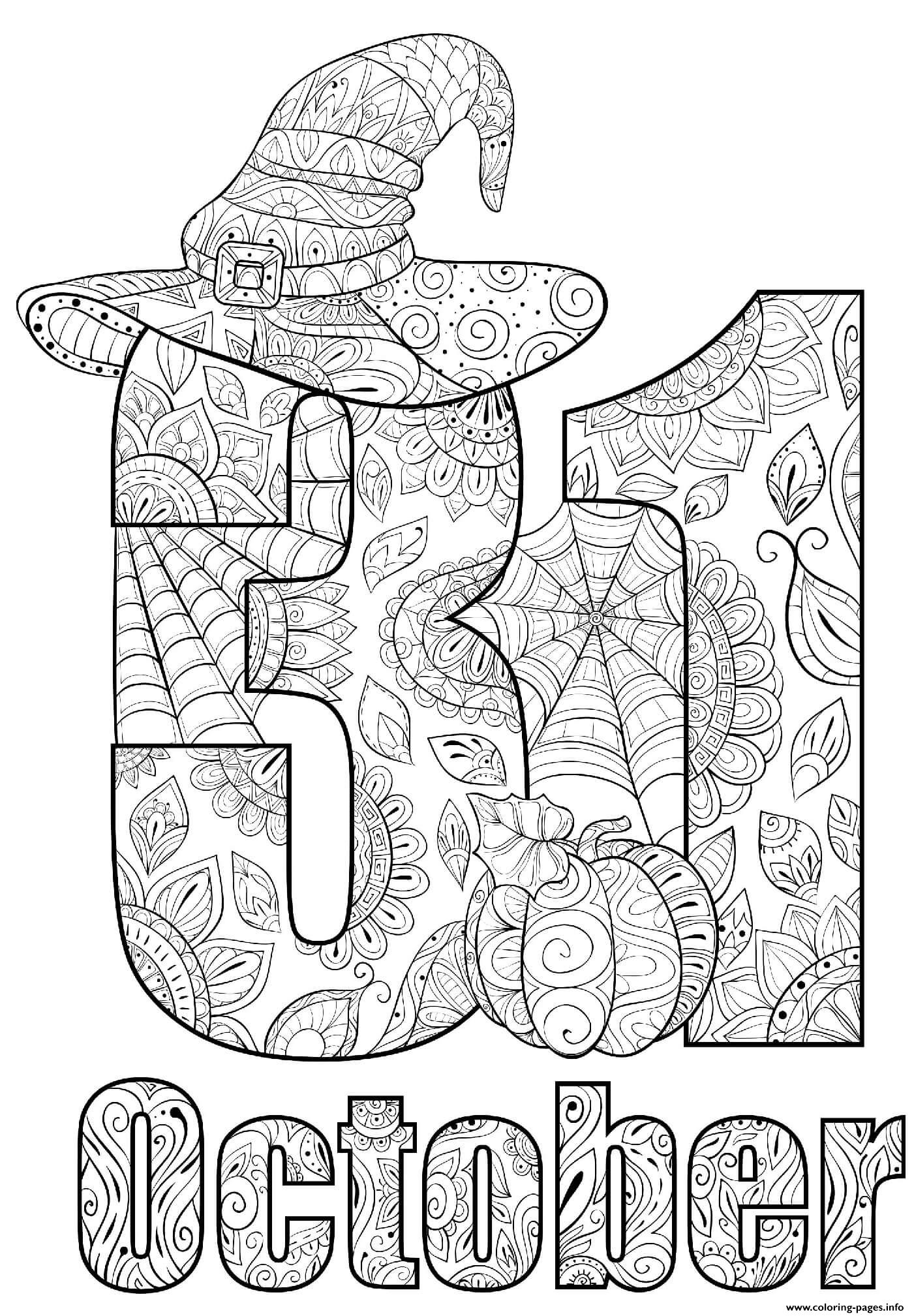 october coloring pictures