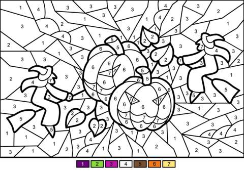 pictures for halloween to color