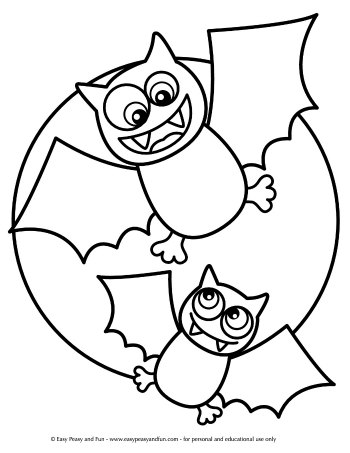 colouring pages halloween for kids