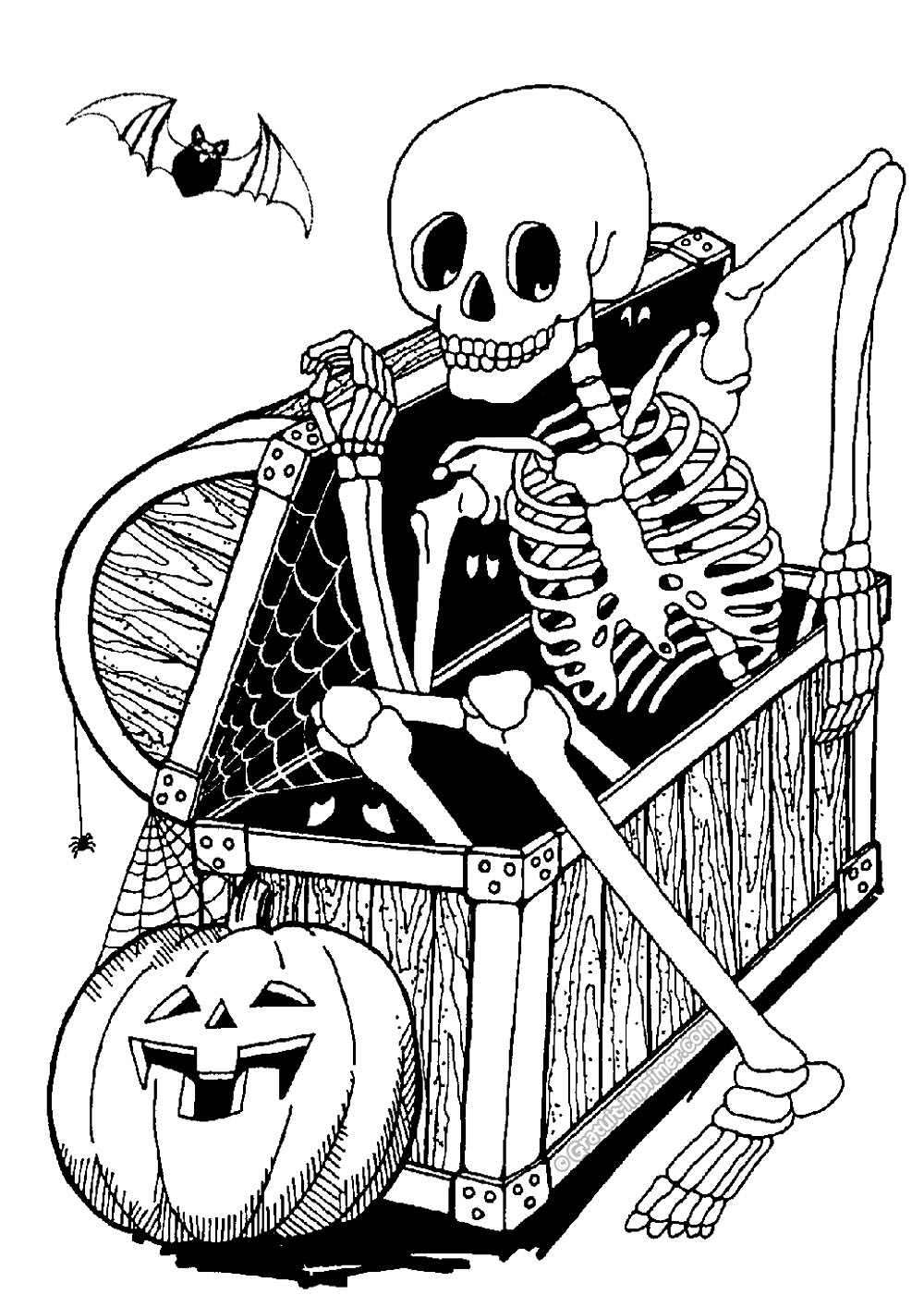 free halloween pictures to print and color