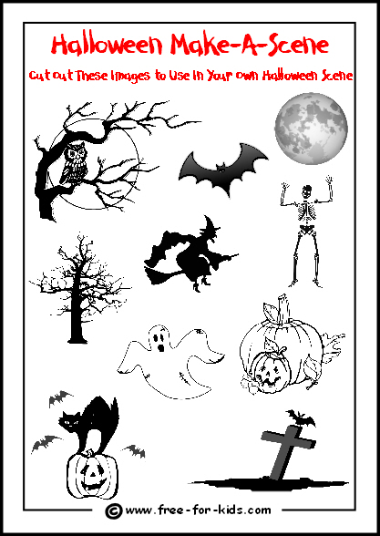 halloween activity sheets for free