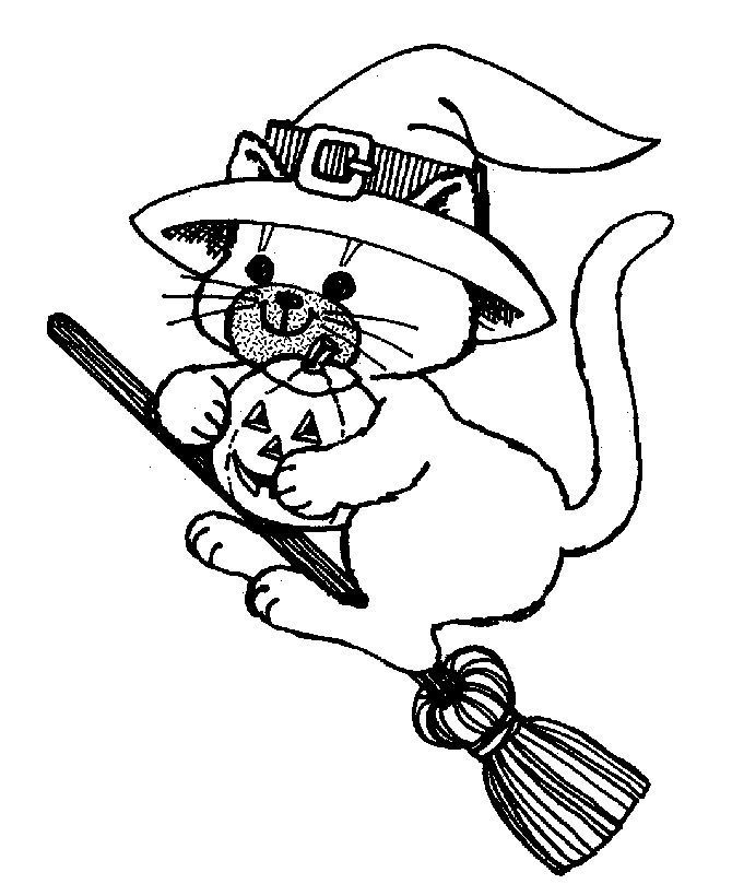 halloween cat coloring pictures