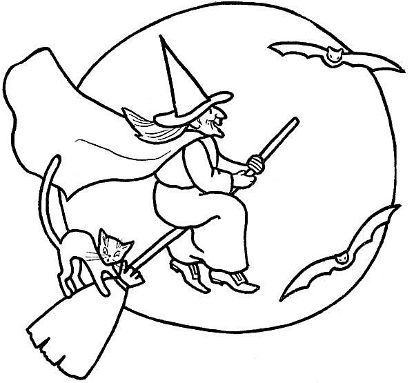 halloween printable colouring pages