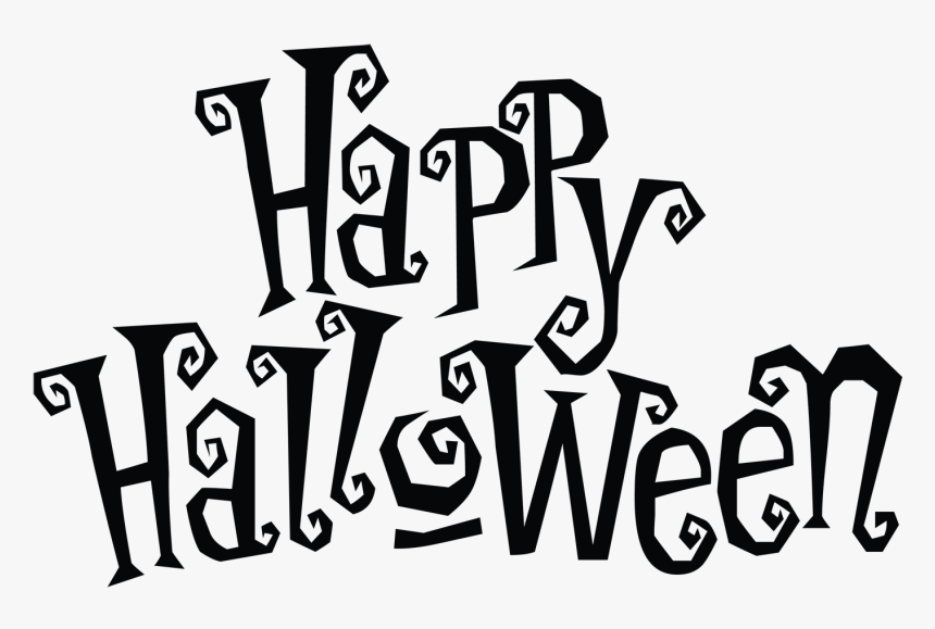 happy halloween clipart black and white