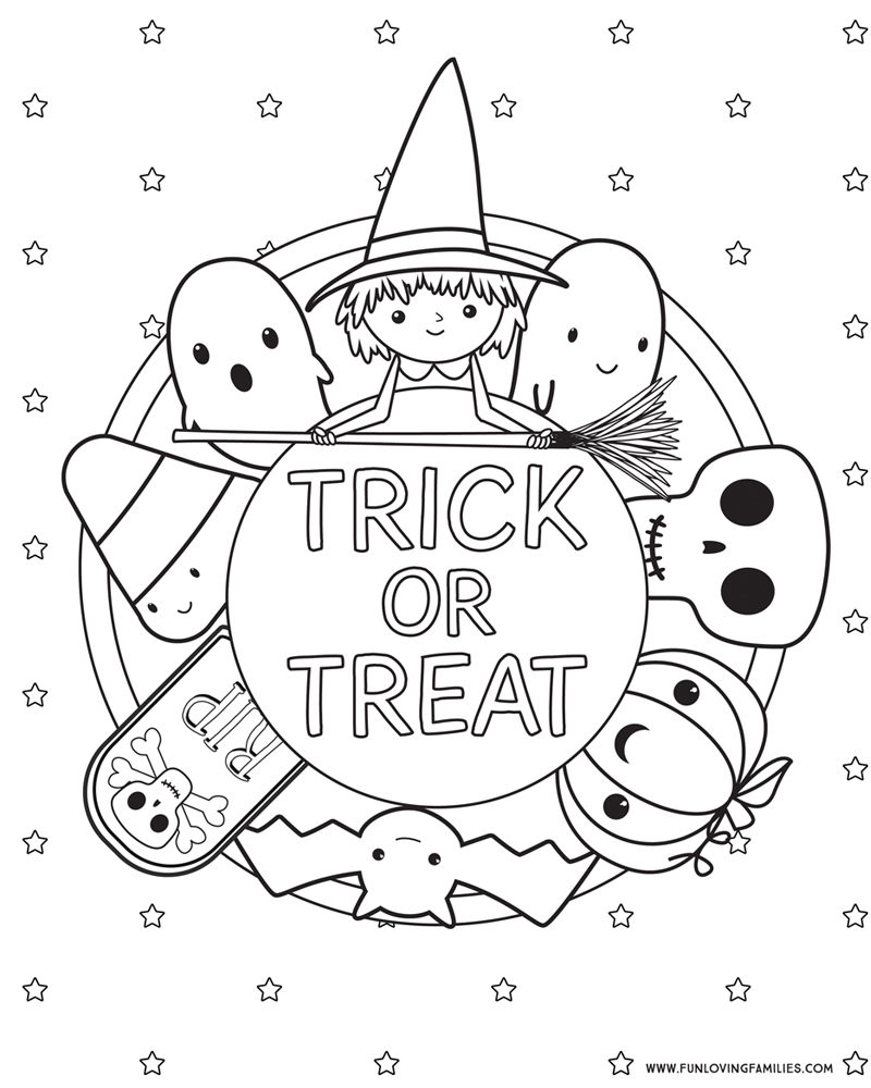 printable halloween colouring pages