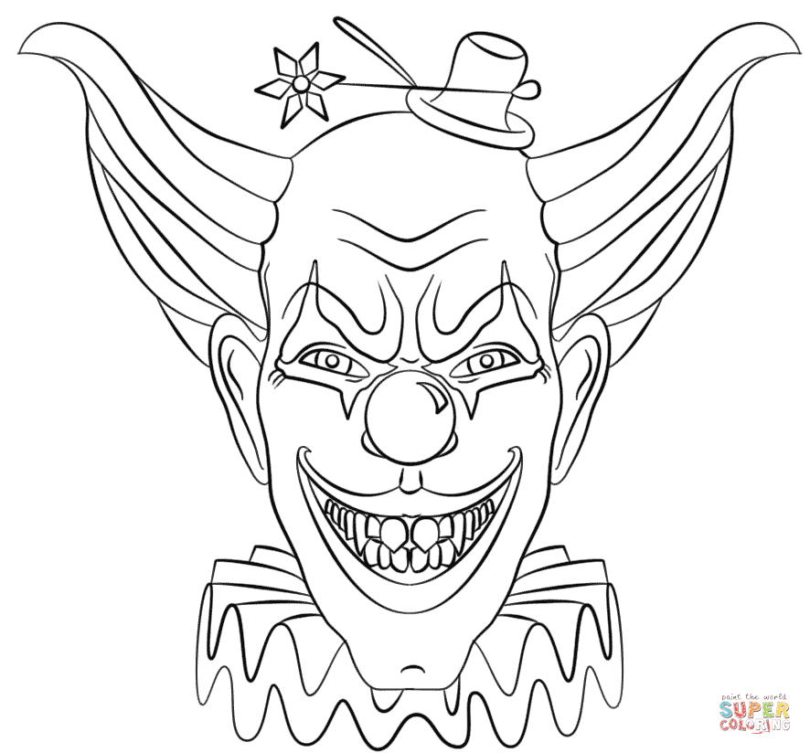 scary clown coloring pictures