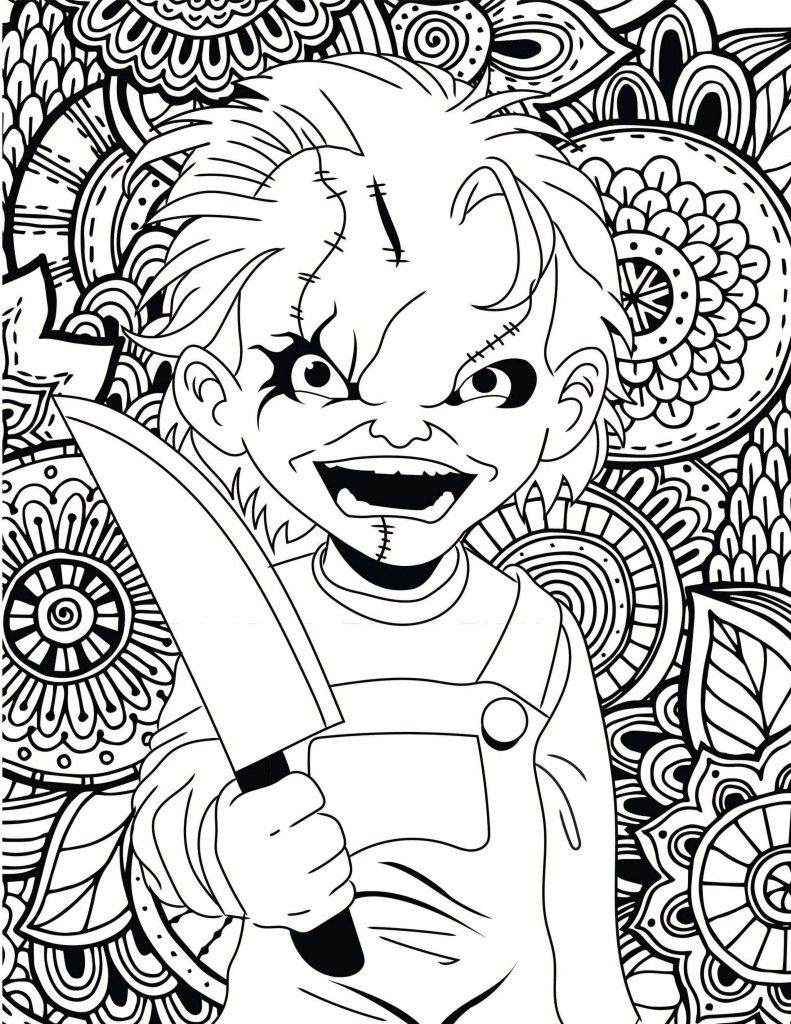scary coloring pictures