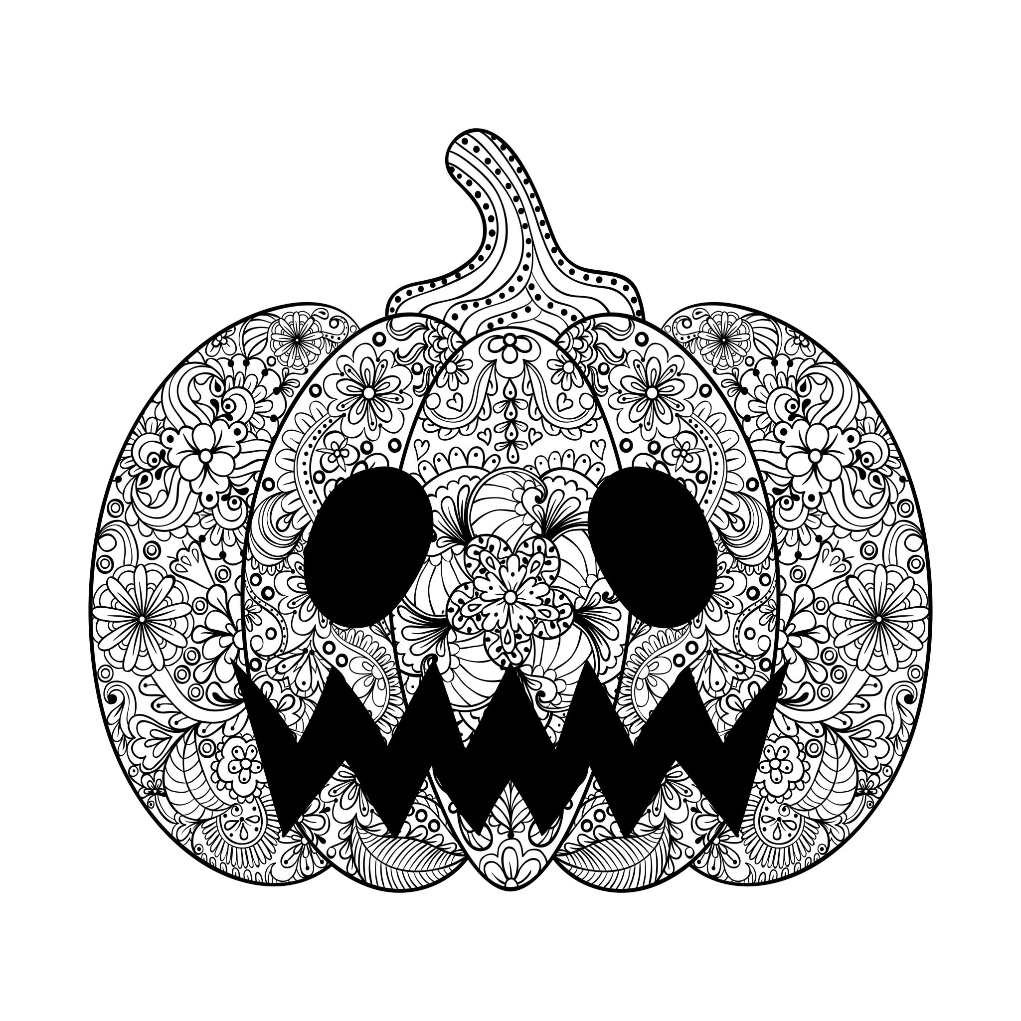 halloween color pictures to print