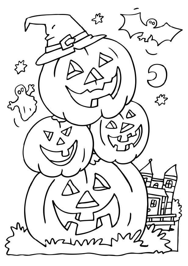 halloween coloring contest pages