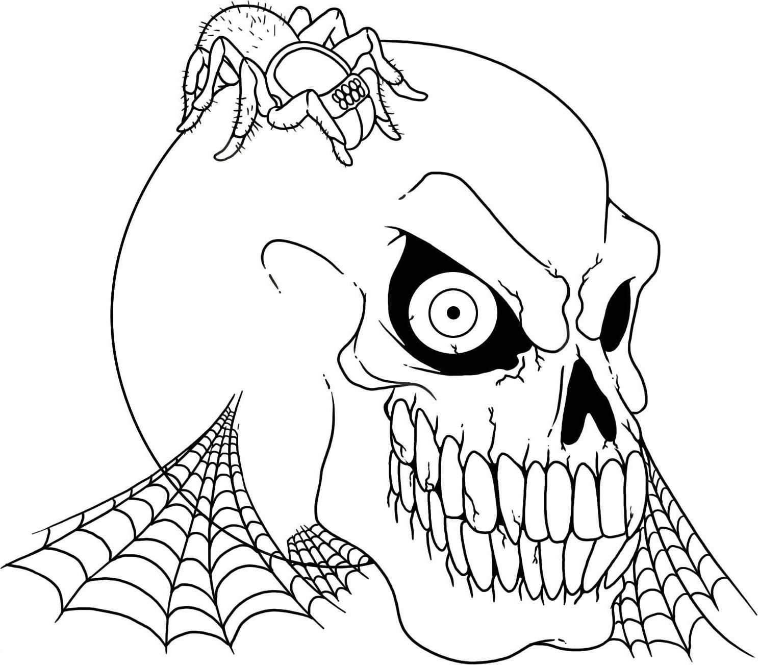 halloween coloring pages scary