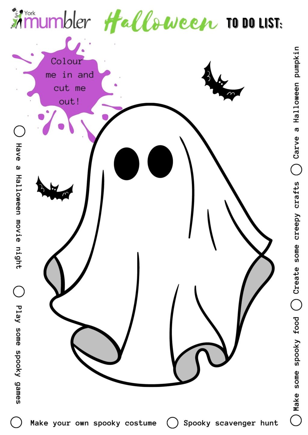 halloween pictures to colour for kids