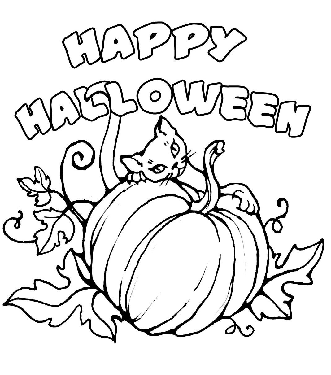 halloween pictures to colour in for children