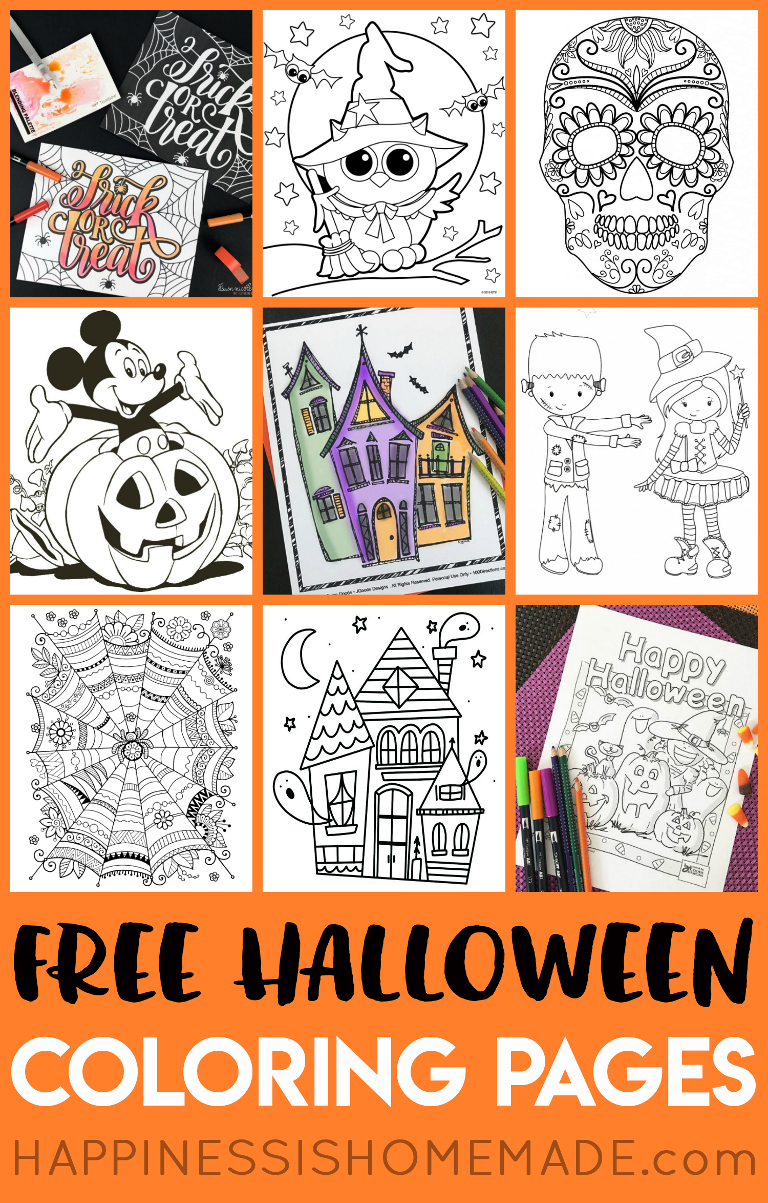 free halloween coloring pages printables