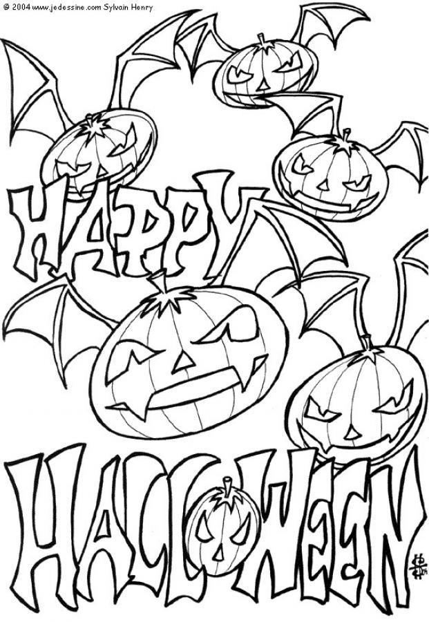 free halloween printables coloring pages
