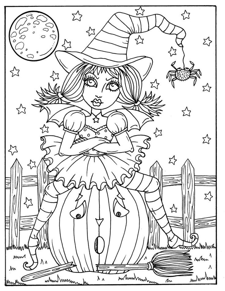 halloween coloring pages witches