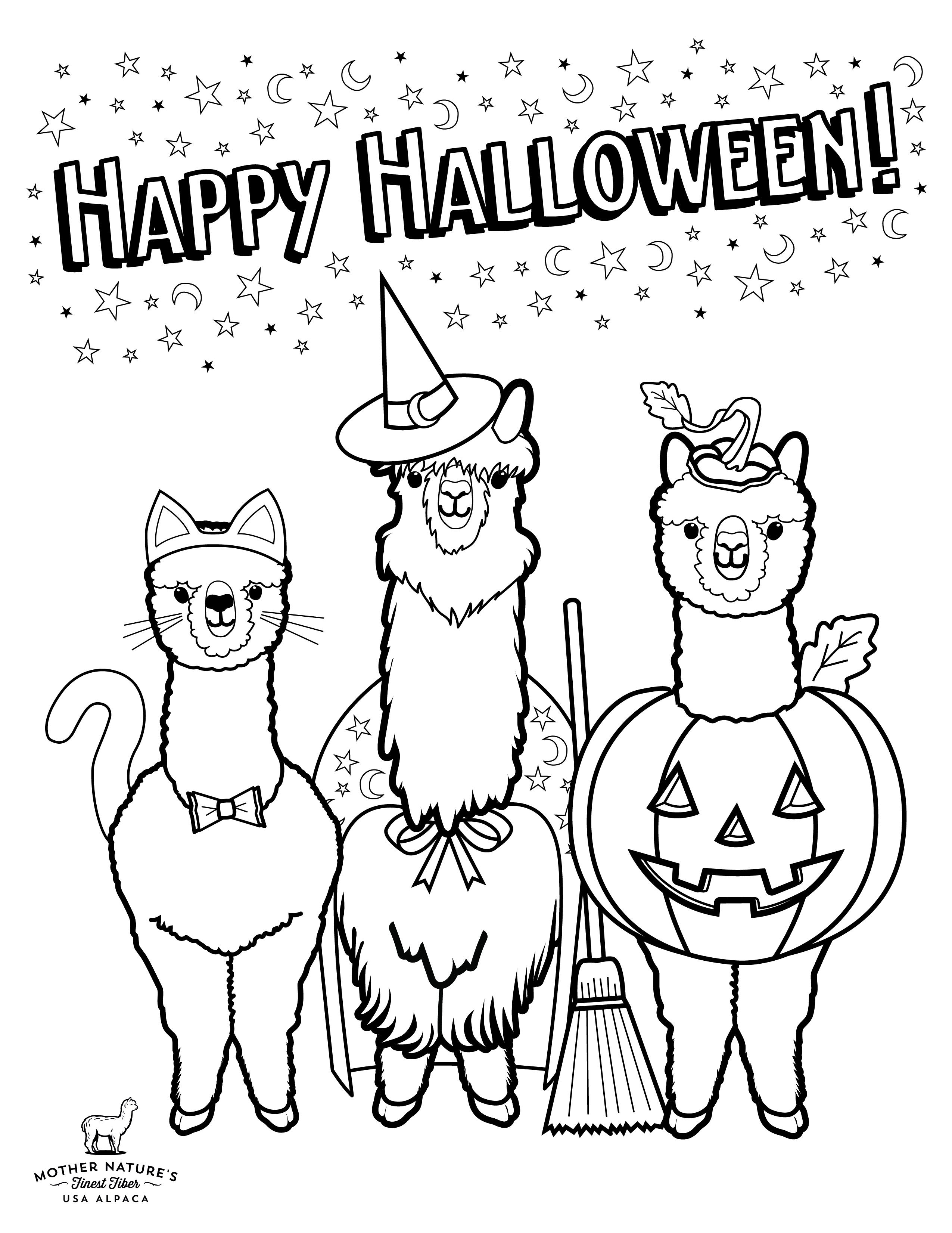 halloween coloring picture