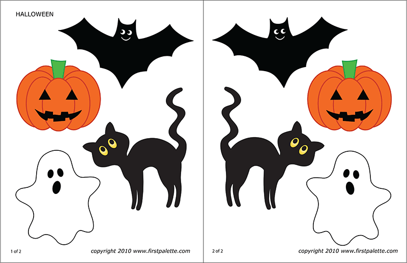 halloween decorations to color