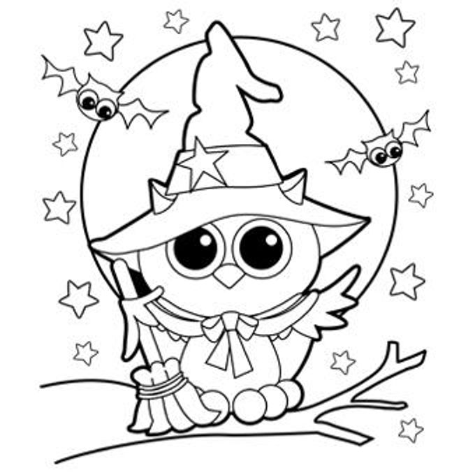 kids' printable halloween coloring pages
