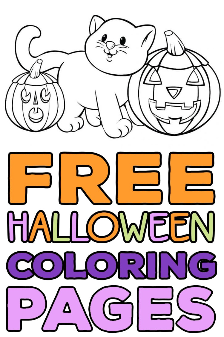 kids halloween colouring pages printable