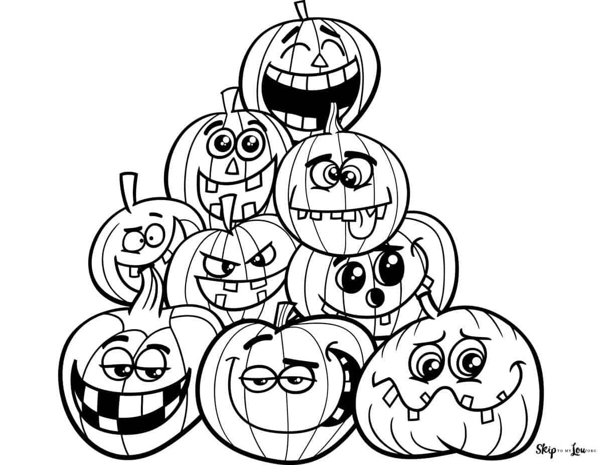 pumpkins to coloring pages