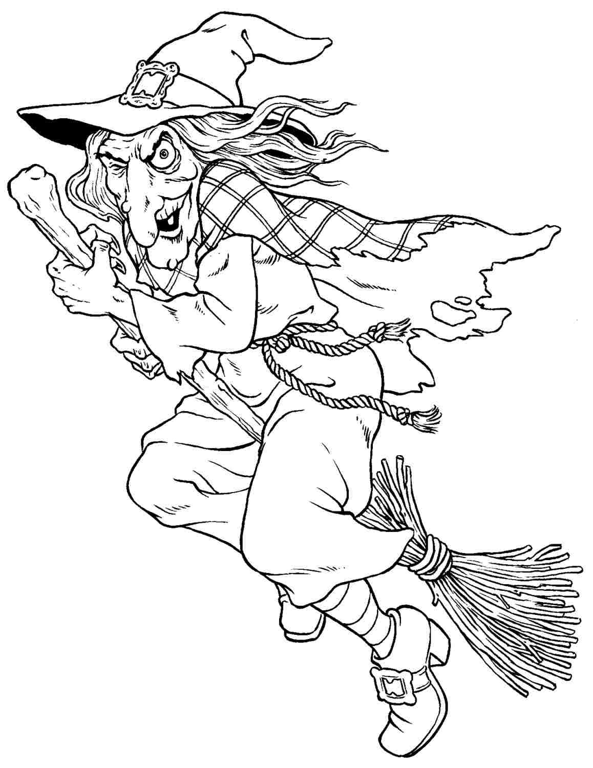 witch colouring pages