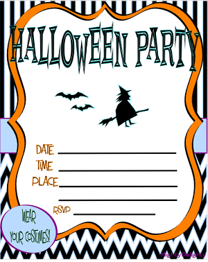 free halloween party invitations to print