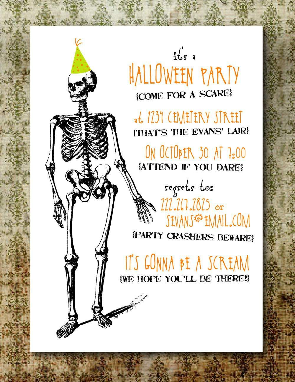 free printable halloween invitations for adults