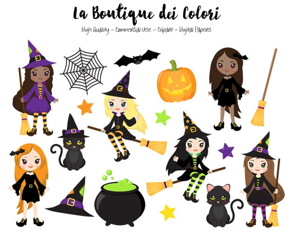 halloween witch clipart