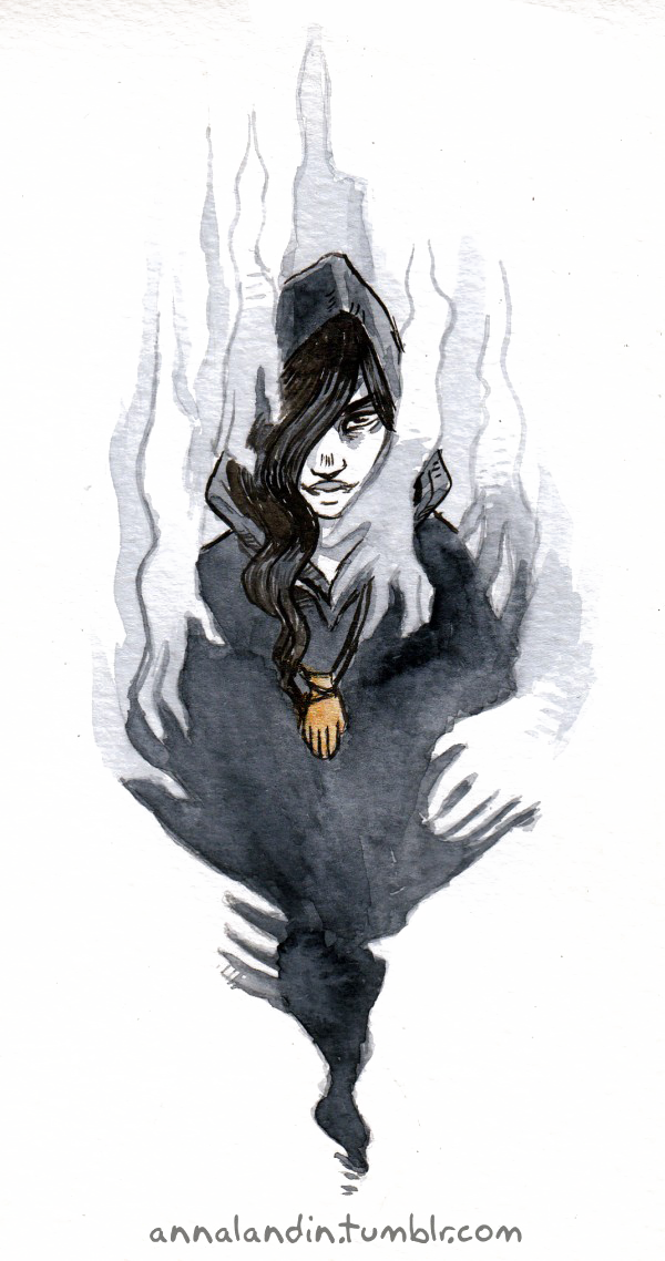 scary witch drawing